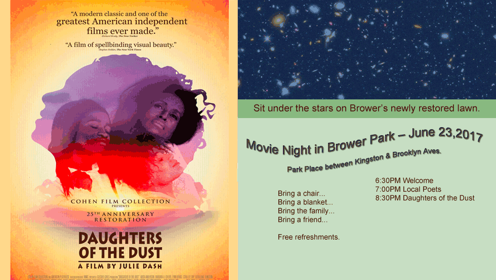 Movie Night in Brower Park June 23, 2017